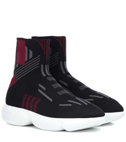Prada Knitted high-top sneakers
