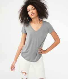 Aeropostale Seriously Soft Solid V-Neck Tee