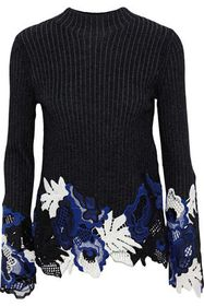 3.1 PHILLIP LIM Guipure lace and ribbed wool-blend