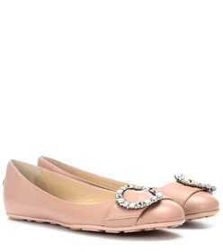 Jimmy Choo Ginny leather ballerinas