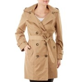 LONDON FOG Petite Double-Breasted Tie Belt Trench