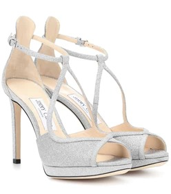 Jimmy Choo Fawne 100 glitter sandals