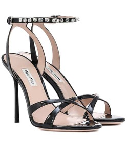 Miu Miu Embellished patent leather sandals