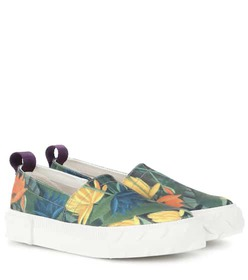 Eytys Viper printed slip-on canvas sneakers