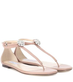 Jimmy Choo Afia crystal-embellished leather sandal
