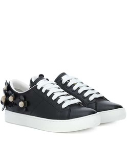 Marc Jacobs Flower-embellished leather sneakers