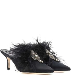 Tory Burch Elodie embellished satin mules