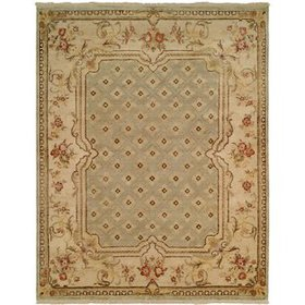 Fraser Hand-Knotted Light Blue/Brown Area Rug