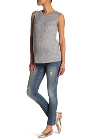 Seven7 Distressed Skinny Jeans (Maternity)