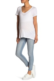 Seven7 Over The Belly Skinny Jeans (Maternity)