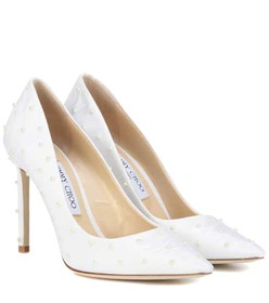 Jimmy Choo Romy 100 embellished pumps