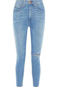AO.LA by ALICE + OLIVIA Good cropped distressed hi