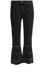 M.I.H JEANS Marty cropped high-rise flared jeans