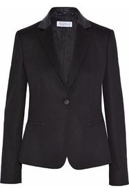 MAX MARA Porta leather-trimmed camel hair blazer