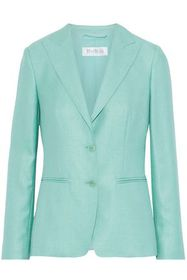 MAX MARA Nuevo silk and wool-blend blazer