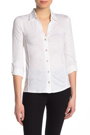 C & C California Contrast Inset Button Down Shirt