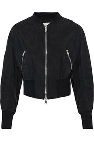 3.1 PHILLIP LIM Cropped zip-detailed washed-shell