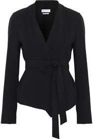 MAX MARA Cardiff belted stretch-wool jacket