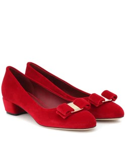 Salvatore Ferragamo Vara Bow velvet pumps