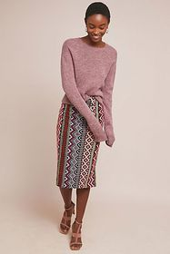 Anthropologie Turing Embroidered Pencil Skirt