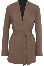 MAX MARA Geisha reversible houndstooth wool-blend