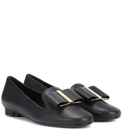 Salvatore Ferragamo Flower Heel leather moccasins