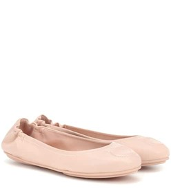 Salvatore Ferragamo Gancini leather ballerinas