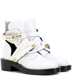 Balenciaga Ceinture leather cut-out boots