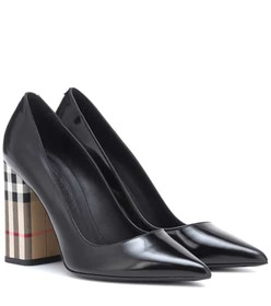 Burberry Vintage Check and leather pumps