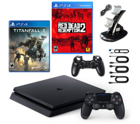 PS4 Slim 1TB Console with Red Dead Redemption 2, T