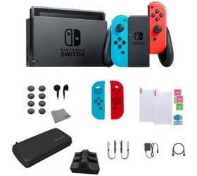Nintendo Switch Bundle with Accessories - Neon - E