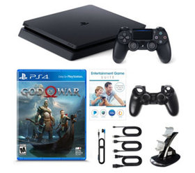 Sony PS4 Slim 1 TB with God of War Game, Voucher &
