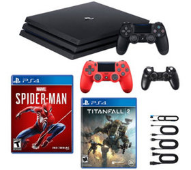 PS4 1TB Pro Console with Spider-Man and Titanfall