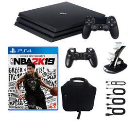 PS4 1TB Pro Console with NBA 2K19 and Accessories