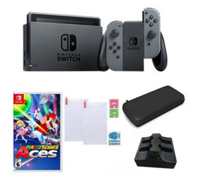 Nintendo Switch with Mario Tennis Aces and Accesso