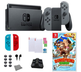Nintendo Switch with Donkey Kong Country and Acces