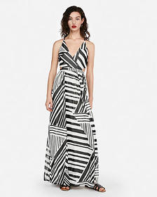 Express strappy lace-up cut-out maxi dress