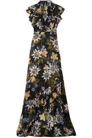 ERDEM Riva ruffle-trimmed floral-print silk-chiffo