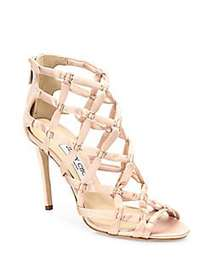 Jimmy Choo Violet Suede Lattice Sandals DUSTY ROSE