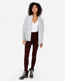 Express express one eleven sherpa cocoon cover-up