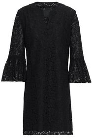 ANNA SUI Fluted corded lace mini dress