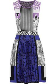 ETRO Pleated cotton and silk-blend jacquard dress