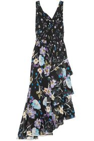 3.1 PHILLIP LIM Cutout tiered floral-print silk-ge