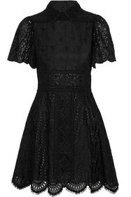 VALENTINO Scalloped broderie anglaise cotton-blend