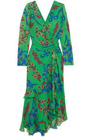 ETRO Twist-back asymmetric floral-print silk-georg