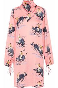 NINA RICCI Printed satin dress
