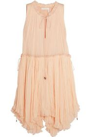 CHLOÉ Pleated silk-gauze dress