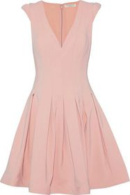 HALSTON HERITAGE Pleated ponte mini dress