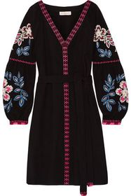 TORY BURCH Therese embroidered cotton mini dress