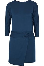 HALSTON HERITAGE Knotted jersey mini dress